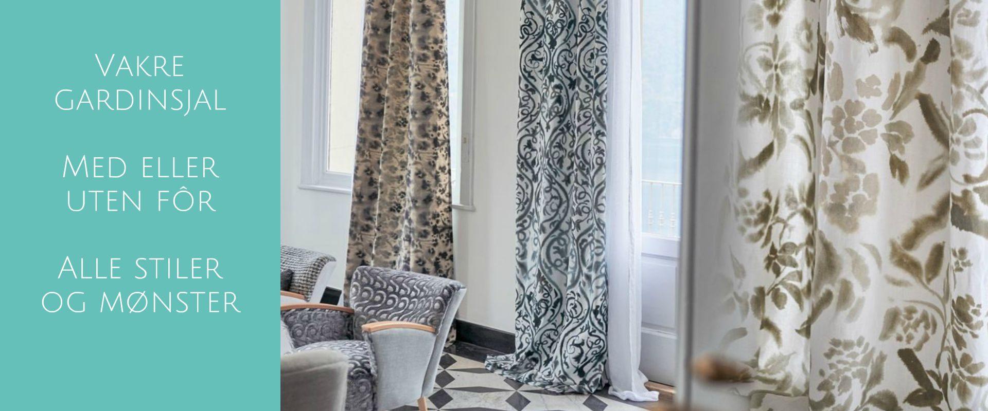 Gardiner - Liftgardin, lystette gardiner etter mål får du hos Tapetgalleriet